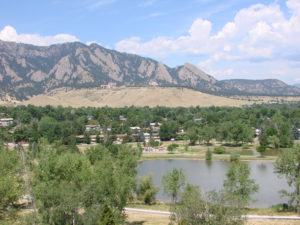View from Fairview High School in Boulder