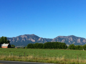 View from Douglass Elementary in East Boulder